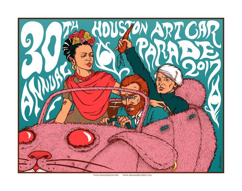 Houston Art Car Parade 2017 30th Anniversary Commemorative Print